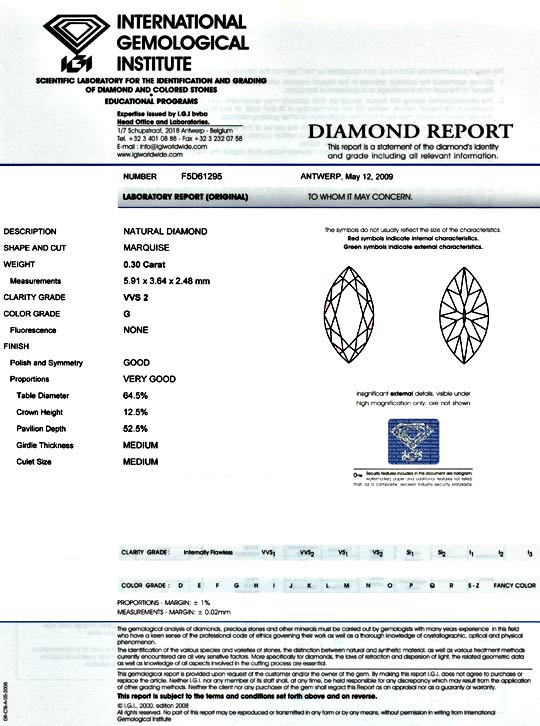 Foto 9 - Navette Diamant 0,30 Carat Top Wesselton VVS IGI Juwel!, D5127