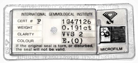 Foto 1 - Diamant 0,191ct Brillant IGI River Hochfeines Weiss VVS, D5131