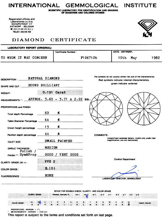Foto 9 - Diamant 0,191ct Brillant IGI River Hochfeines Weiss VVS, D5131