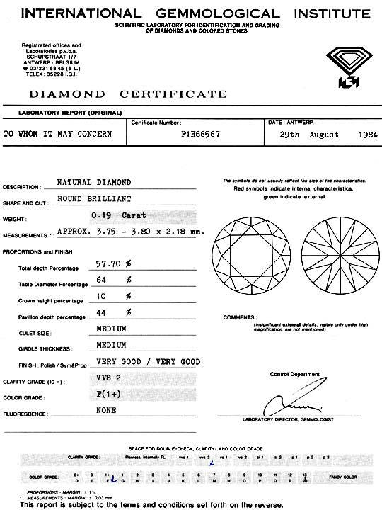 Foto 9, 0,19ct Brillant IGI Diamant Top Wesselton Plus VVS VGVG, D5132