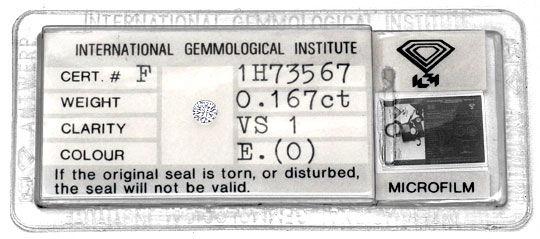 Foto 1 - Diamant 0,167ct Brillant IGI River Hochfeines Weiss VS1, D5133