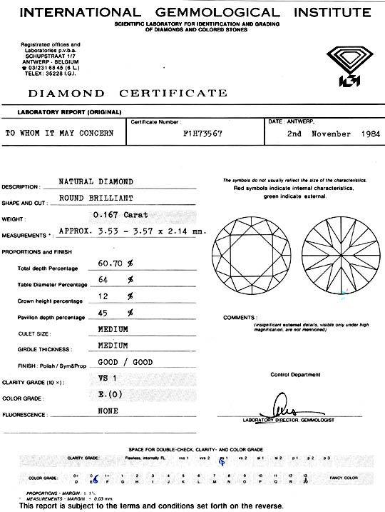 Foto 9 - Diamant 0,167ct Brillant IGI River Hochfeines Weiss VS1, D5133