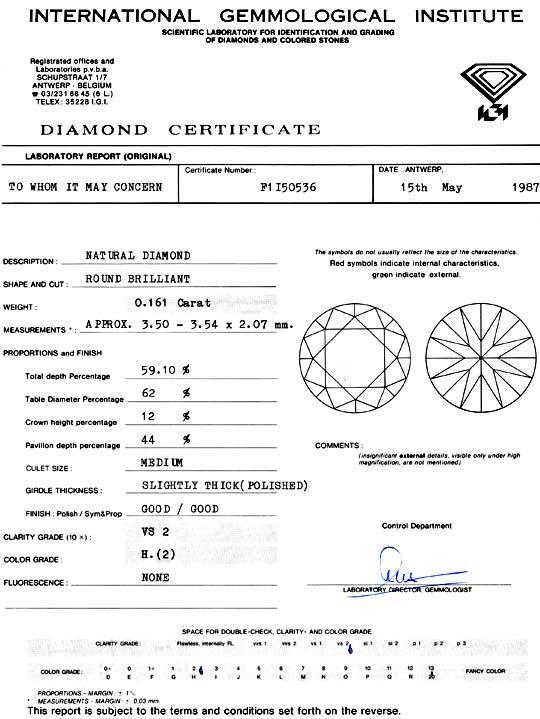 Foto 9 - 0,161 Carat Brillant IGI Wesselton Weiss H, VS2 Diamant, D5134