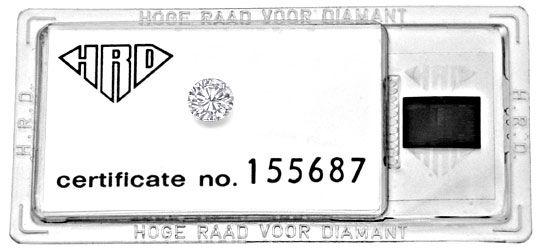 Foto 1 - Diamant 1,09ct Brillant HRD Lupenrein Wesselton Diamond, D5135