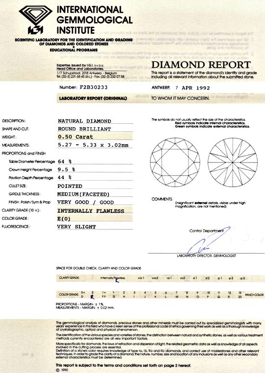 Foto 9, Diamant 0,50ct Brillant Lupenrein River E IGI Expertise, D5136