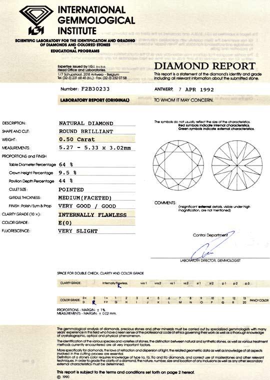 Foto 9 - Diamant 0,50ct Brillant Lupenrein River E IGI Expertise, D5136