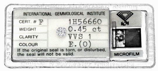 Foto 1 - Diamant 0,45ct Brillant IGI River Hochfeines Weiss VVS1, D5137