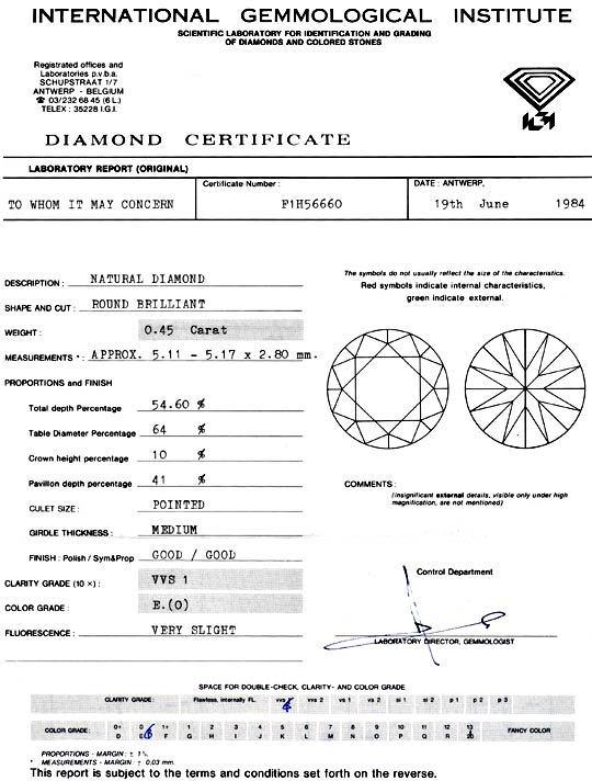 Foto 9 - Diamant 0,45ct Brillant IGI River Hochfeines Weiss VVS1, D5137