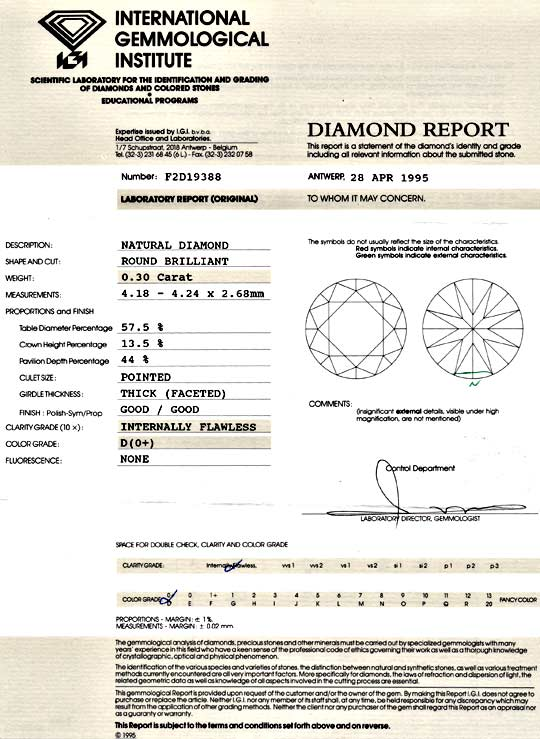 Foto 9, Diamant 0,30ct Brillant IGI Lupenrein River D Brilliant, D5138