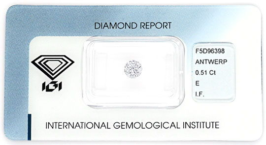 Foto 1 - Diamant 0,51Carat Brillant IGI Lupenrein River VG VG VG, D5141