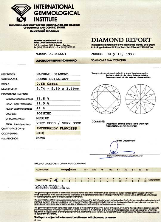 Foto 9 - Diamant 0,68ct Brillant IGI Lupenrein River E, sehr gut, D5143
