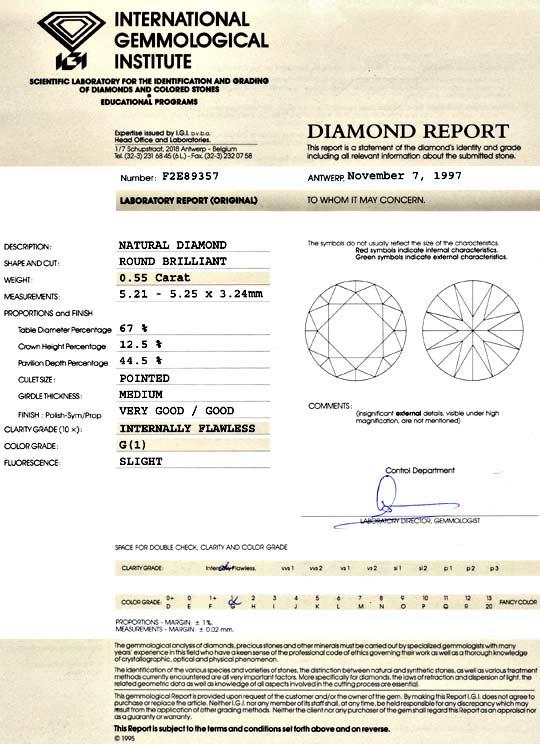 Foto 9 - Diamant 0,55 Carat Brillant IGI Lupenrein Top Wesselton, D5145