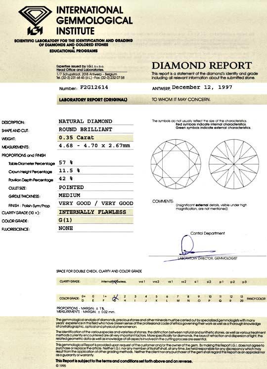 Foto 9 - Diamant 0,35ct Brillant IGI Lupenrein Top Wesselton 2VG, D5148