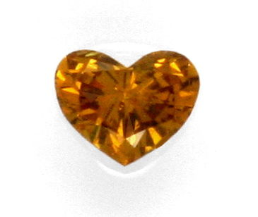 Foto 2, Herz-Diamant 0,56 Natural Fancy Intense Yellowish Brown, D5150