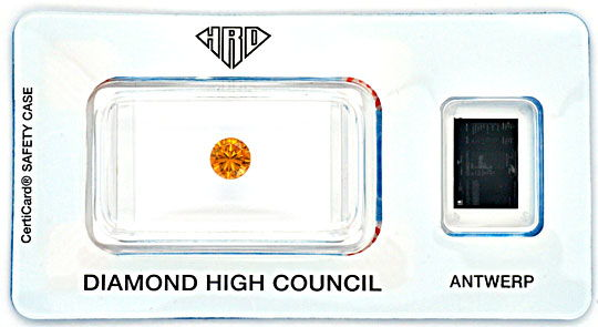 Foto 1, Brillant Natural Fancy Intense Orange Yellow 0,54 Carat, D5151
