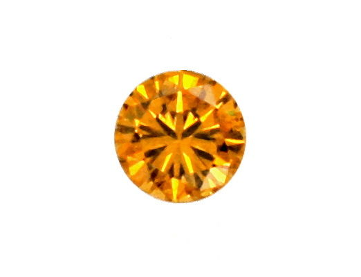 Foto 2, Brillant Natural Fancy Intense Orange Yellow 0,54 Carat, D5151