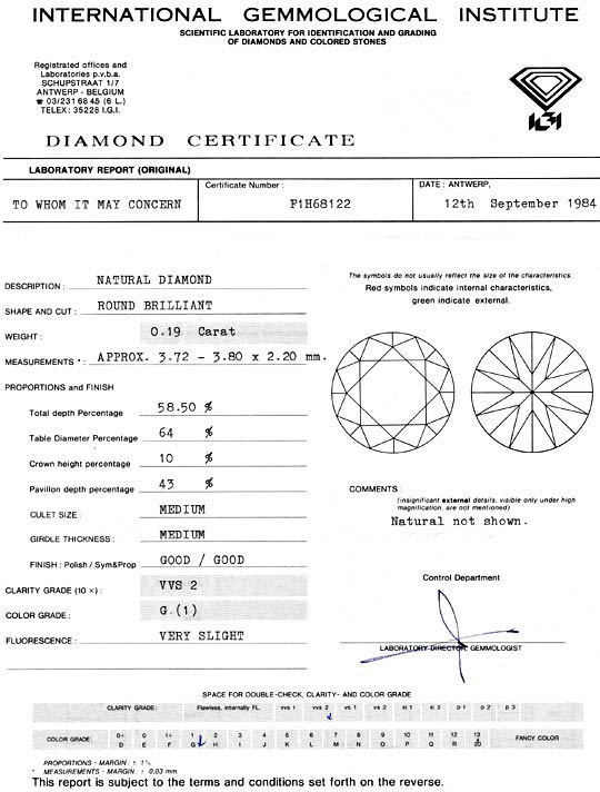 Foto 9, Diamant 0,19ct Brillant IGI VVS Top Wesselton Brilliant, D5153