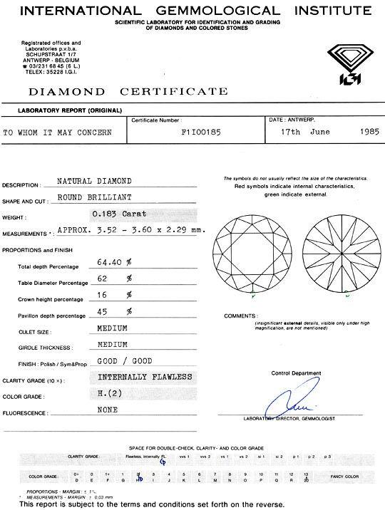 Foto 9 - Diamant 0,183ct Brilliant IGI Lupenrein Wesselton Weiss, D5155