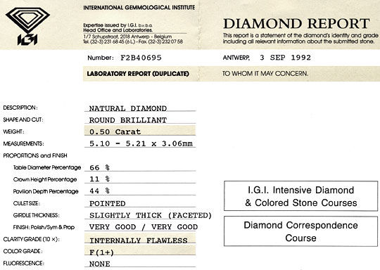 Foto 9 - Diamant 0,5ct Brillant IGI Lupenrein Top Wesselton Plus, D5156