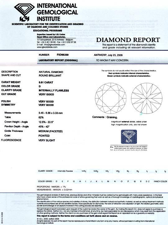 Foto 9 - Der Beste Diamant 0,61ct Brillant IGI Lupenrein River D, D5157
