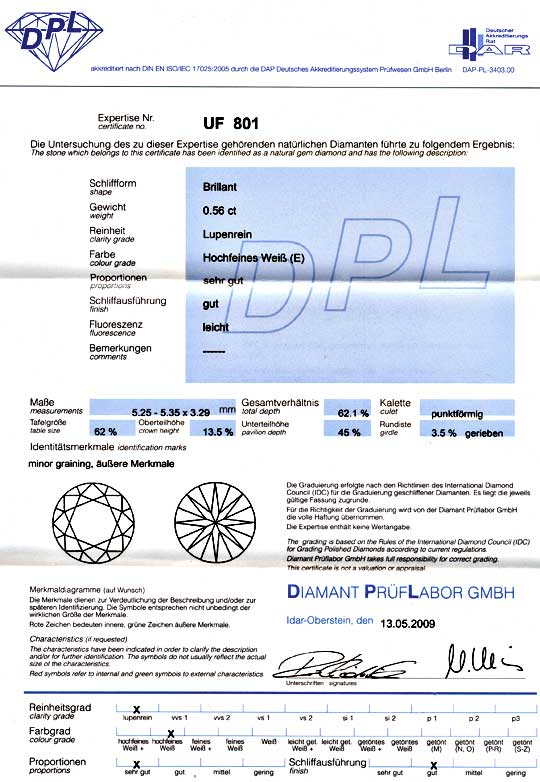 Foto 9 - Diamant 0,567ct Brillant DPL, Lupenrein River Brilliant, D5160