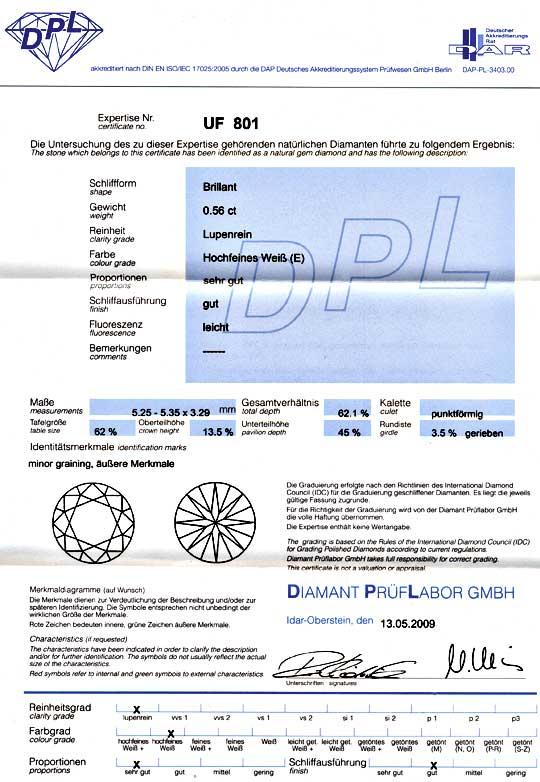 Foto 9 - Diamant 0,567ct Brillant DPL, Lupenrein River Brilliant, D5160