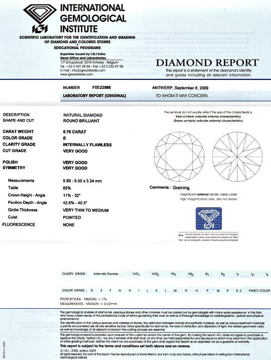 Foto 9 - Diamant 0,70Carat Brillant IGI Lupenrein River VG VG VG, D5163
