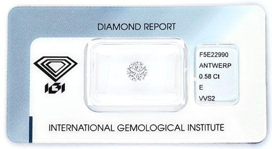 Foto 1 - Diamant 0,58ct Brillant IGI River Hochfeines Weiss VVS2, D5164