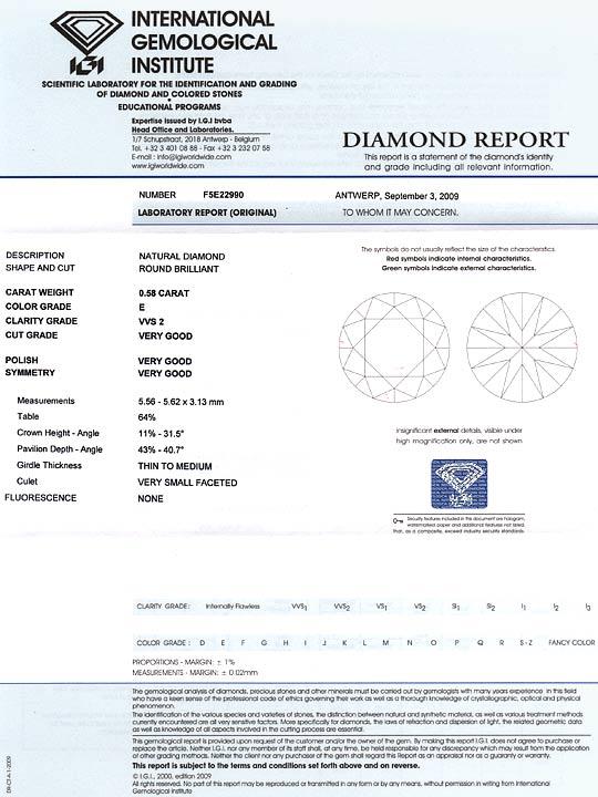 Foto 9 - Diamant 0,58ct Brillant IGI River Hochfeines Weiss VVS2, D5164