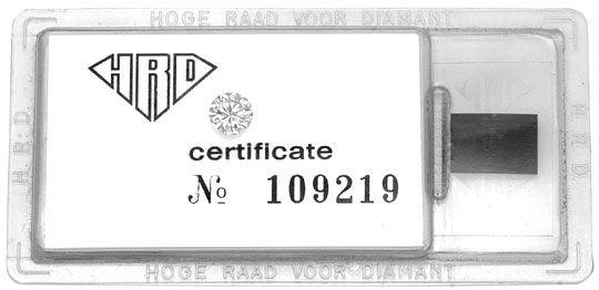 Foto 1 - Diamant 0,60 Carat Brillant HRD Lupenrein Top Wesselton, D5166