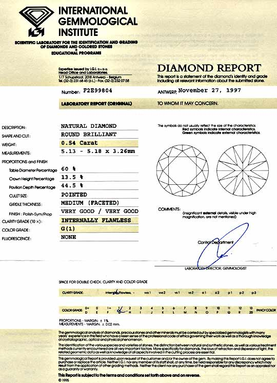 Foto 9, Lupenreiner Diamant 0,54 ct Brilliant IGI Top Wesselton, D5176
