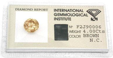 Foto 1, Diamant IGI 4.0ct Tolle Farbe Perfekte Brillanz Diamond, D5286