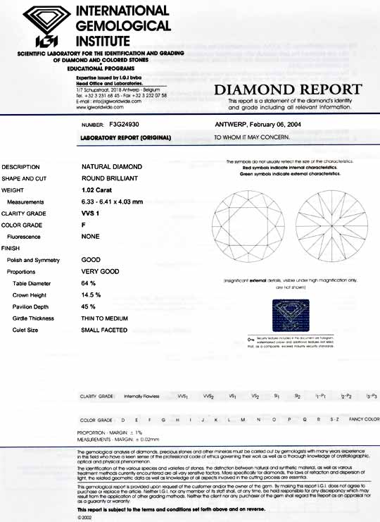Foto 9, Diamant, IGI! 1,02ct fast Lupenrein Top-Wess.-F Diamond, D5443