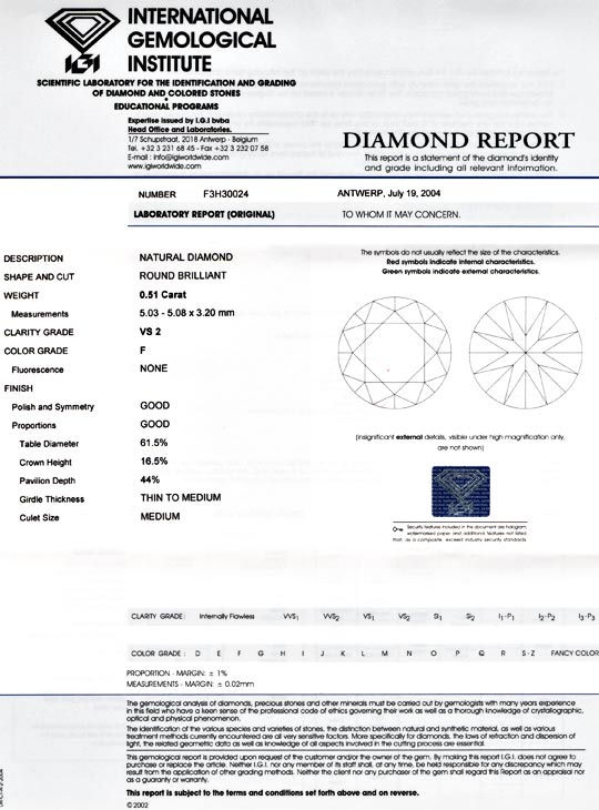 Foto 9, Diamant, IGI!!!, 0,51ct Top Wesselton F VS2 Wert Juwel!, D5473