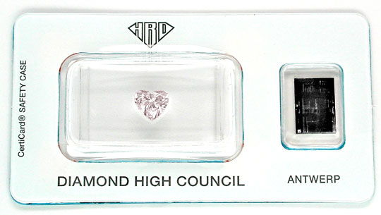 Foto 1, Herz Diamant 1,01ct Light Brownish Pink !!! HRD Diamond, D5482