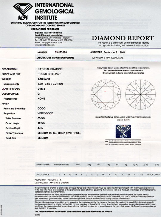 Foto 9, Diamant, IGI! Brillant 0,18ct Top-Wesselton-G VVS2 Shop, D5494