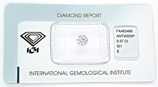 Foto 1 - Diamant, Top Gutachten IGI!!! 0,572 Carat, River Juwel!, D5503