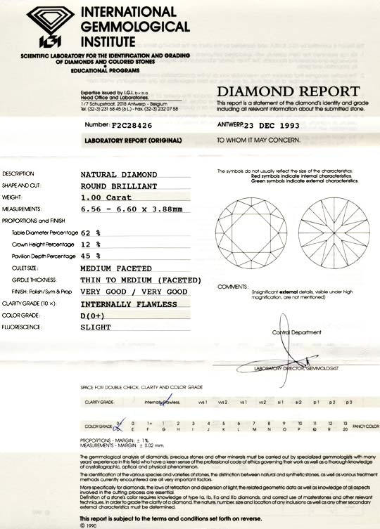Foto 9, Diamant Brillant 1ct Lupenrein River D IGI VGVG Diamond, D5516