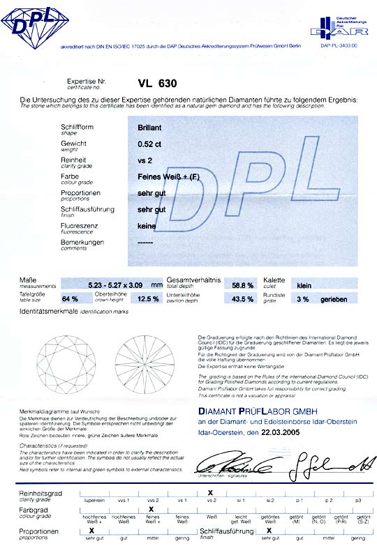 Foto 9 - Brillant, Gutachten DPL, 0.52ct Top Wesselton F! Juwel!, D5525