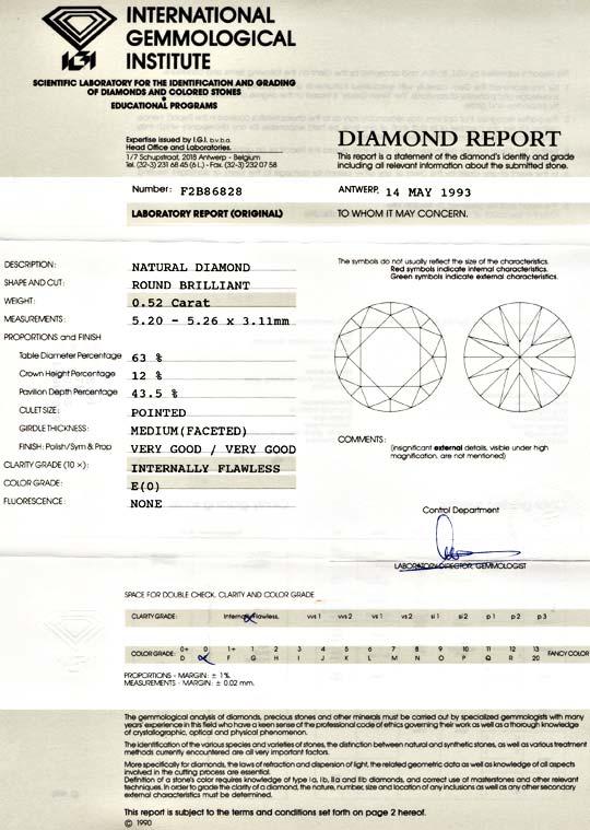 Foto 9 - Diamant, IGI!!!, Brillant 0.52ct Lupenrein River Juwel!, D5529