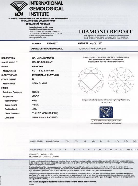 Foto 9 - Diamant, IGI, Brillant 0,89ct Lupenrein River D Diamond, D5537