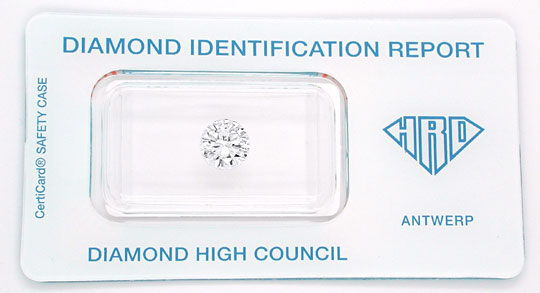 Foto 1 - Diamant HRD Brillant 1,26ct Lupenrein River VG, Diamond, D5544