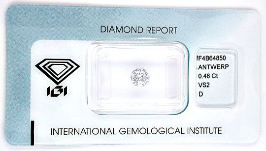 Foto 1 - Diamant, IGI, Traum Brillant 0,48ct VS2 River D! Juwel!, D5551