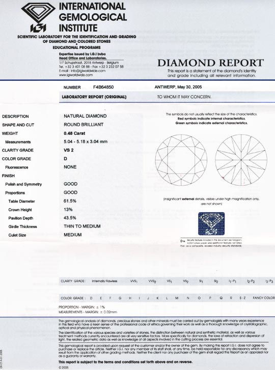 Foto 9, Diamant, IGI, Traum-Brillant 0,48ct VS2 River-D! Juwel!, D5551