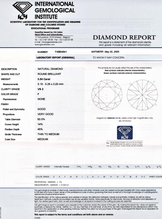 Foto 9, Diamant IGI!!, Brillant 0,54ct feines Weiss Plus Juwel!, D5555
