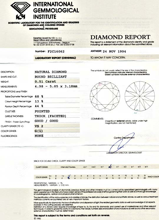 Foto 9 - Diamant Brillant 0,51ct Top Wesselton G VS2, IGI Juwel!, D5582