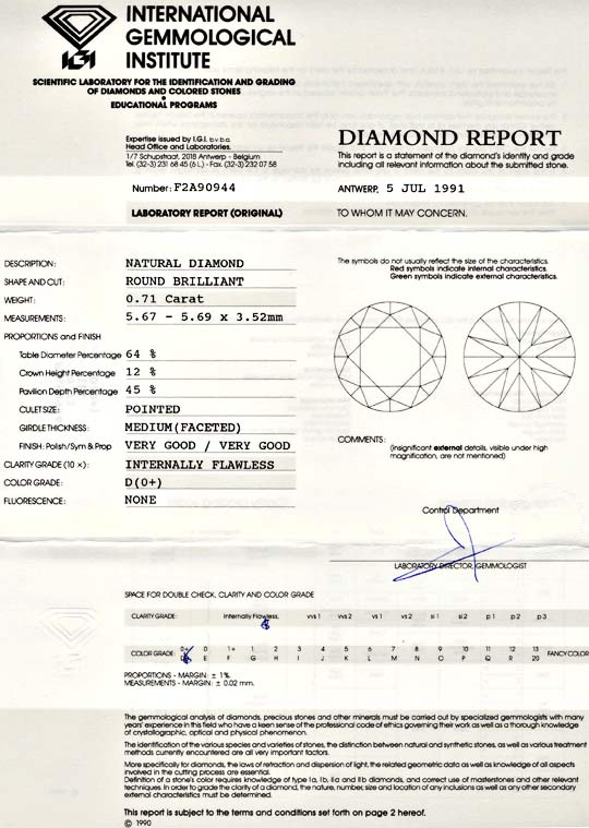 Foto 9, Diamant, IGI!!!, 0,71ct Lupenrein River-D VG/VG Diamond, D5590
