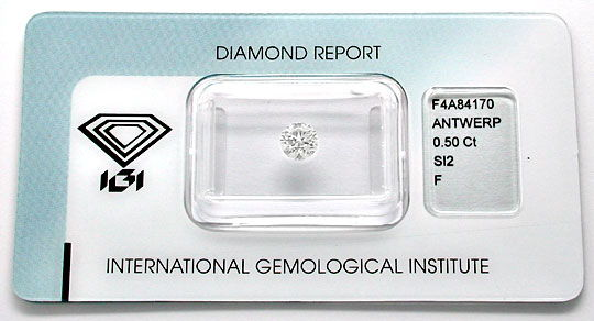 Foto 1, Diamant, IGI Top-Brillant 0,50ct Top-Wesselton-F Juwel!, D5602