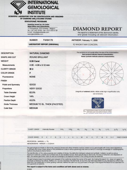 Foto 9, Diamant, IGI Top-Brillant 0,50ct Top-Wesselton-F Juwel!, D5602