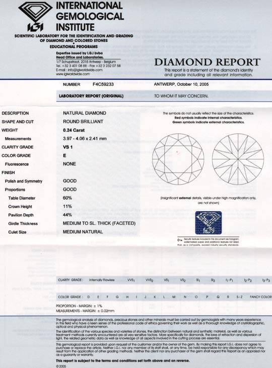 Foto 9, Diamant IGI Expertise! Brillant 0,24ct VS1 River Juwel!, D5608